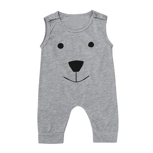 Newest Infant Baby Kids Girl Boy Summer Clothes Cotton Bear Sleeveless Romper Jumpsuit Playsuit Outfits - ourkids-shop