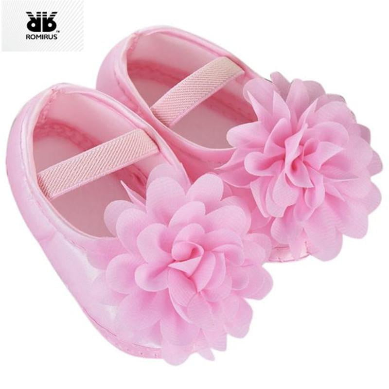 Kids Baby Shoes Prewalker Flower Soft Sole Infant Girl First Walkers Booties for Newborn Anti-slip Crib Shoes Sapatinhos De Bebe - OurKids.Shop