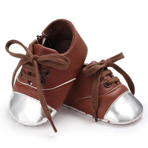 Baby Boys Girls PU Leather Infant Toddler Sneakers Crib Newborn Kid Babe Soft Soled Classic Casual Shoes for kids Lace-up - OurKids.Shop