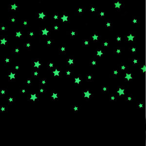 100PCs wall stickers for kids rooms Bedroom Fluorescent Glow In The Dark Stars Wall Stickers - ourkids-shop
