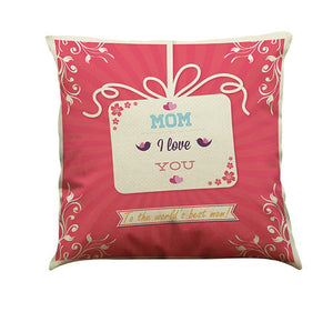 I Love You Mom Sofa Bed Home Decoration Festival Pillow Case Cushion Cover - ourkids-shop