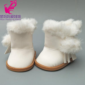 18 inch American Girls Dolls Fur Snow Boots shoes for Alexander doll accessory baby born doll winter shoes girl gift - ourkids-shop