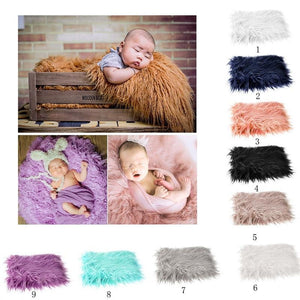 Baby Photo Props Newborn DIY Photography Soft Fur Quilt Photographic Mat - ourkids-shop