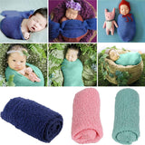 TINKSKY Newborn Baby Photography Photo Prop Stretch Wrap Baby Long Ripple Wrap - ourkids-shop
