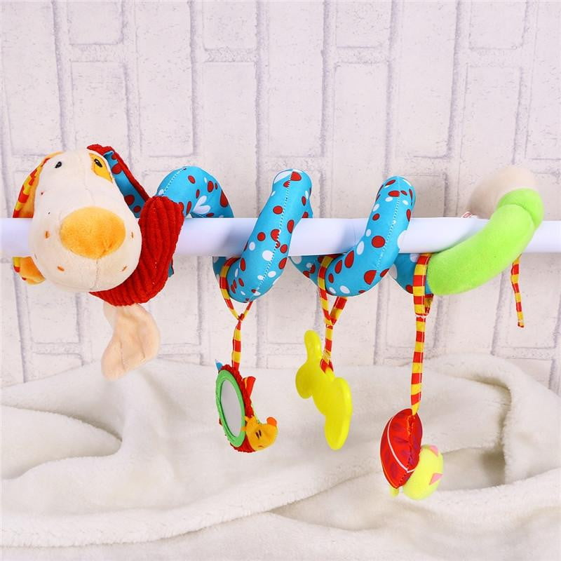 Puppy Dog Baby Infant Crib Toy Wrap Around Crib Rail Toy Stroller Toy Cute Baby Educational Plush Toys - OurKids.Shop
