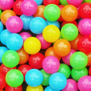 100PCS Kids Ball Colorful Fun Soft Plastic Ball Pit Balls for Birthday Parties - ourkids-shop