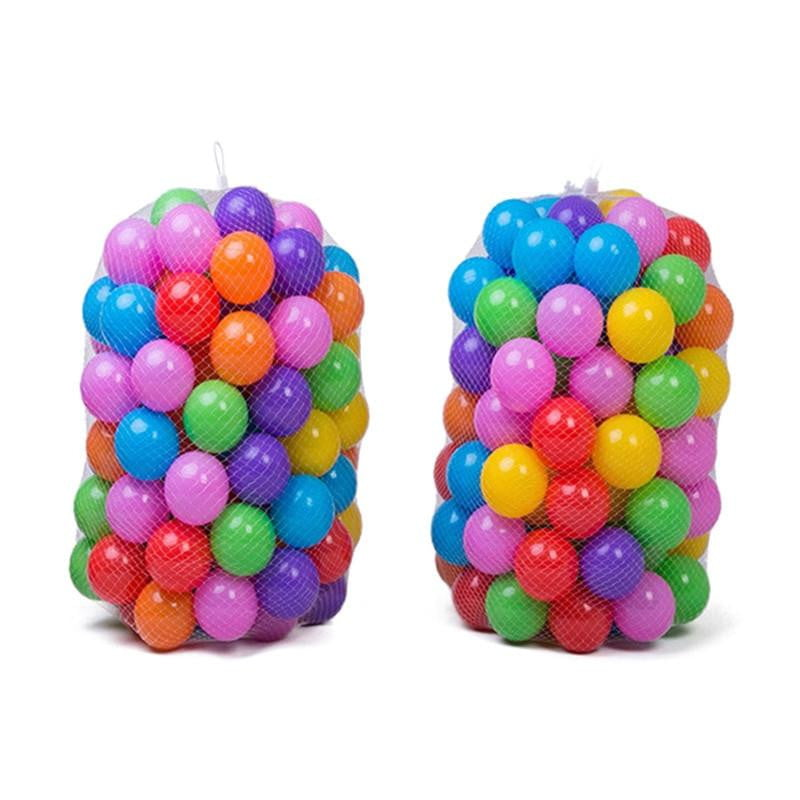100PCS Kids Ball Colorful Fun Soft Plastic Ball Pit Balls for Babies Kids Children Birthday Parties Events Playground Games Pool Tent Ocean Swim Toys Ball Packing in Mess Bag, 5.5CM - OurKids.Shop