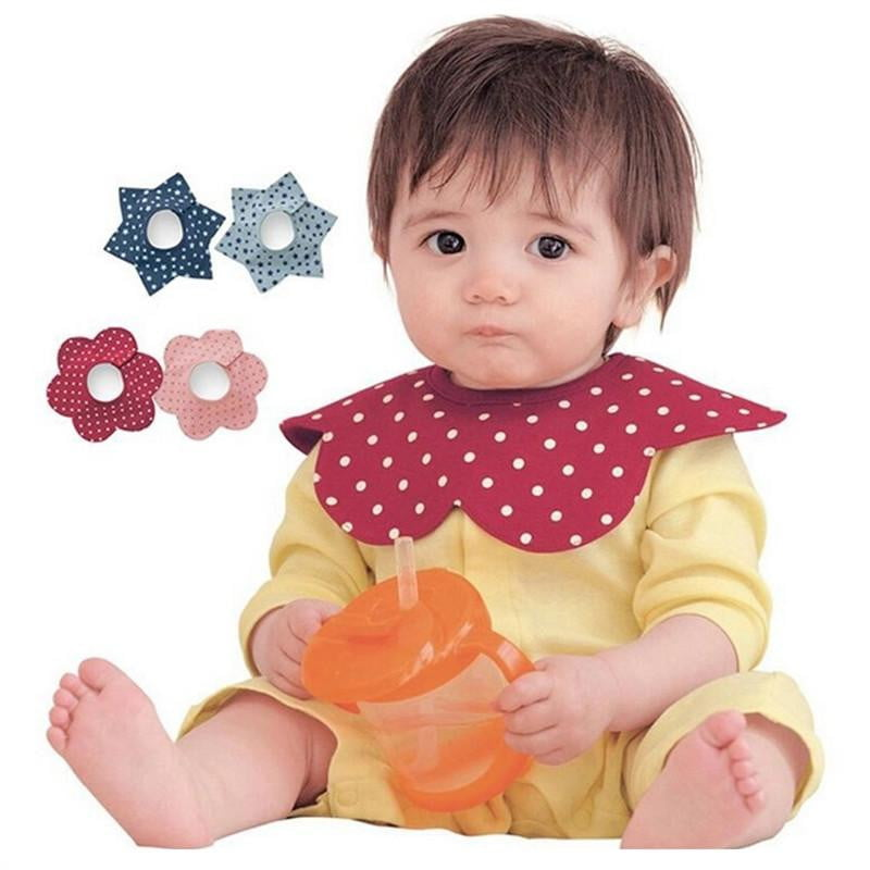 Baby Waterproof 360 Degree Rotatable Bibs Saliva Towels Absorbent Terry with Snaps - OurKids.Shop
