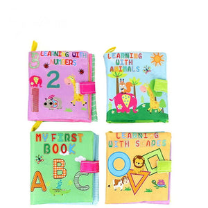 4PCS Baby First Non-Toxic Soft Cloth Leaning Book Intelligence Development Cloth Book Toys - OurKids.Shop