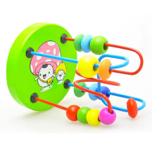 Educational Baby Kids Wooden Around Beads Toy Toddler Infant Intelligence Toys - ourkids-shop