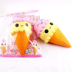 Exquisite Fun Ice Cream Scented Squishy Charm Slow Rising Simulation Kid Toy