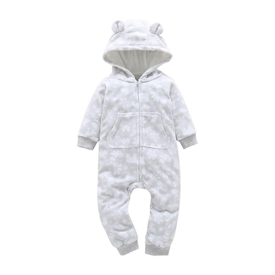Hooded Fleece Jumpsuit Baby Girls Clothes Newborn