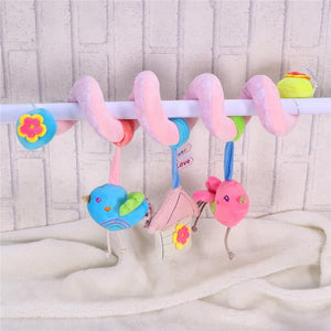 Infant Baby Activity Spiral Bed & Stroller Toy Lovely Bird Educational Plush Toy - OurKids.Shop