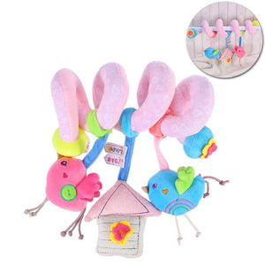 Infant Baby Activity Spiral Bed & Stroller Toy Lovely Bird Educational Plush Toy - ourkids-shop