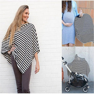 Nursing Breastfeeding Cover Scarf Baby Car Seat Canopy Shopping Cart Stroller Carseat Covers for Girls and Boys Stretchy Shawl - ourkids-shop