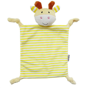 Infant Teething Cloth Soft Square Striped Plush Snuggle Teether Blanket Baby Appease Towel Toy - OurKids.Shop