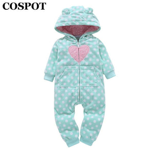 COSPOT 2018 Rush Sale Baby Girls Hooded Fleece Jumpsuit Baby Girls Clothes Newborn One Piece Romper Baby Clothing Overalls 35E