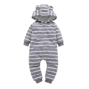 Hooded Fleece Jumpsuit Baby Girls Clothes Newborn - ourkids-shop