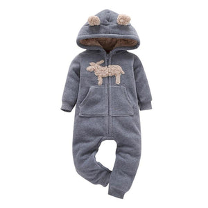 Newborn One Piece Fleece Hooded Jumpsuit Long Sleeved Red Plaid X'mas