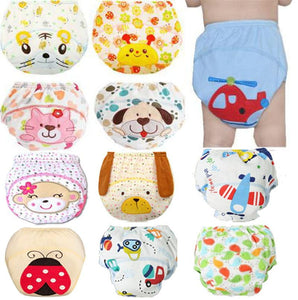 Cute Baby Diapers Reusable Nappies Cloth Diaper Washable - ourkids-shop