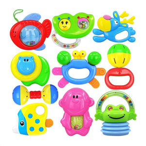 Baby's First Rattle and Teether Toy Infant Educational Toy Toddlers Hanging Strollers Sound Bell Baby Gift - ourkids-shop