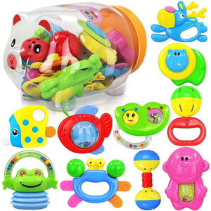 Baby's First Rattle and Teether Toy Infant Educational Toy Toddlers Hanging Strollers Sound Bell Baby Gift - OurKids.Shop