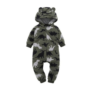 2018 Autumn&Winter Baby Boy Clothes Baby Rompers Fleece Newborn Clothing One Piece baby girl clothes Romper Hooded Sleepwear - ourkids-shop