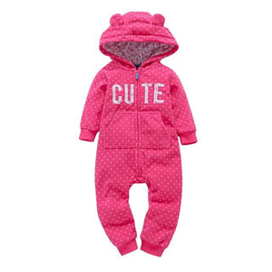 2018 Autumn&Winter Baby Boy Clothes Baby Rompers Fleece Newborn Clothing One Piece baby girl clothes Romper Hooded Sleepwear - OurKids.Shop