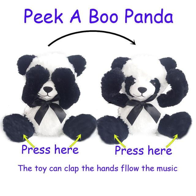 New Peek A Boo Animals Toy, Stuffed Animals & Plush Toy Dog/Bear / Panda /Elephant, Singing Baby Music Toys For Christmas Gift - OurKids.Shop