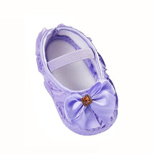 Toddler Kid Baby Girl Rose Bowknot Elastic Band Newborn Walking Shoes - ourkids-shop