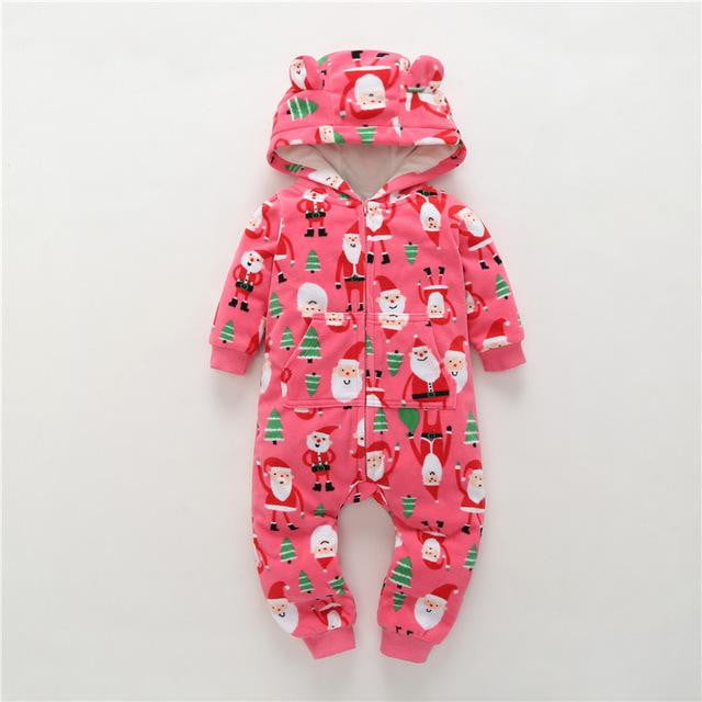 2018 New LimitedUnisex Print Full O-neck Autumn Winter Baby Clothes Boy Overalls Newborn One Piece Romper Girl - OurKids.Shop