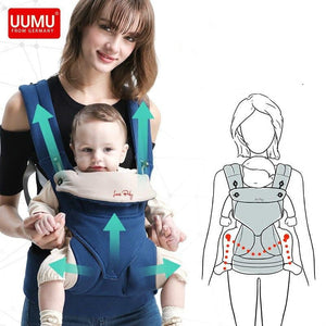 Ergonomic UUMU Baby Carrier sling Breathable baby kangaroo hipseat backpacks & carriers Multifunction backpack sling - ourkids-shop
