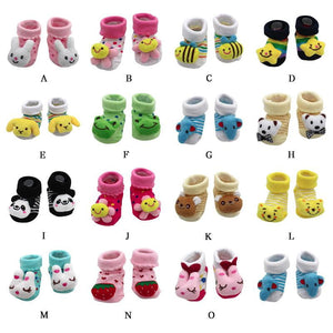 MUQGEW 2018 new  clothing Cartoon Newborn Baby Girls Boys Anti-Slip Socks Slipper Shoes Boots kids clothes sports suit - OurKids.Shop