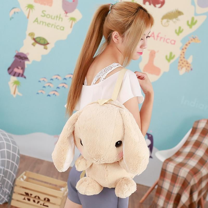 Cute Plush Rabbit Backpack Japanese Kawaii Bunny Backpack Stuffed Rabbit Toy Children School Bag Gift Kids Toy For Girl - ourkids-shop