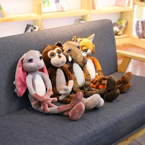 Classic New Nici Fierce Jungle Brothers Elephant Rabbit Fox Monkey Animal Plush Toys - ourkids-shop