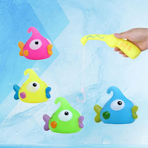 10pcs Baby Fishing Floating Squirts Toy Bath Toys Fishing Toys Set Educational Toys - ourkids-shop