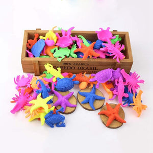 24pcs Dinosaur Marine Animals Shaped Toys Wate Bibulous Grow Inflation Toy - ourkids-shop