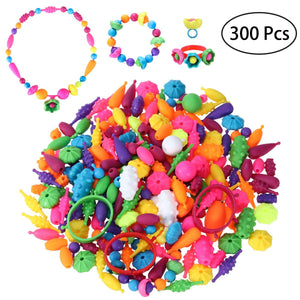 TOYMYTOY Pop Snap Beads Set Creative DIY Necklace Bracelet Jewelry Making Kit for Girls Art Crafts Educational Toy - ourkids-shop