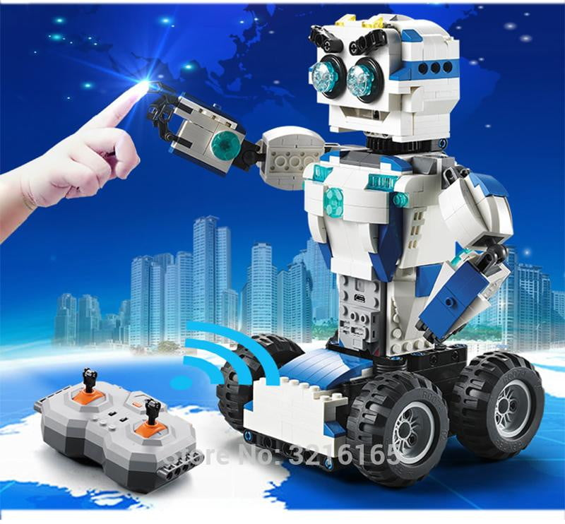606pcs DIY 2-in-1 RC Building Blocks Transform Robot toys Lithium battery Motor Boost Creative Bricks Compatible Legos Gift kids - ourkids-shop