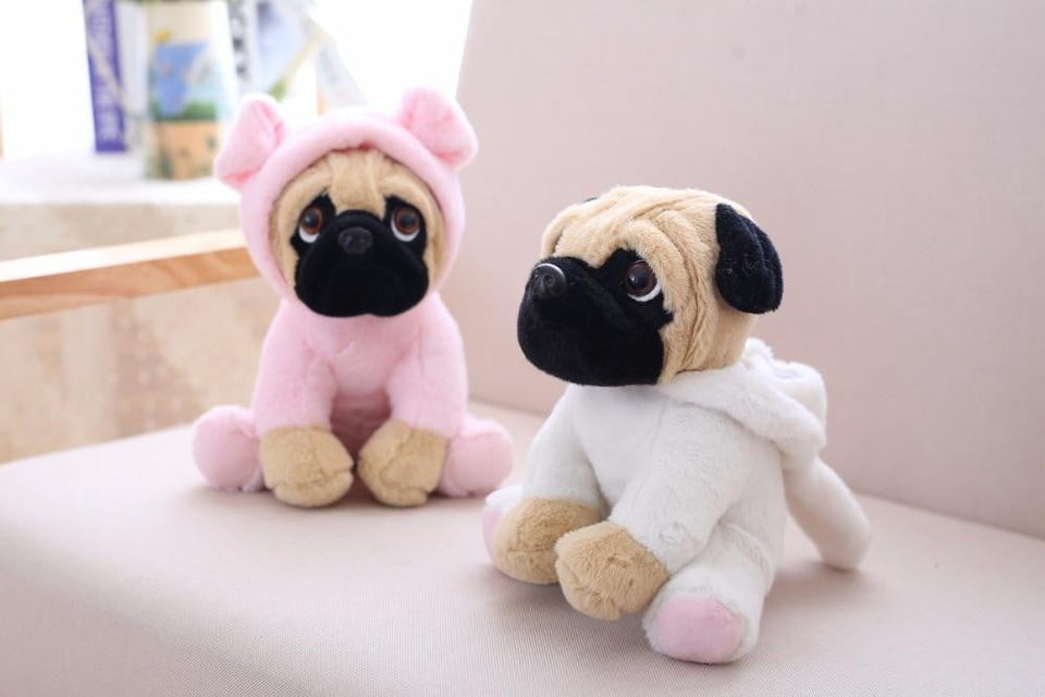 20CM Stuffed Simulation Dogs Plush Sharpei Pug Lovely Puppy Pet Toy Plush Animal Toy Children Kids Birthday Christmas Gifts