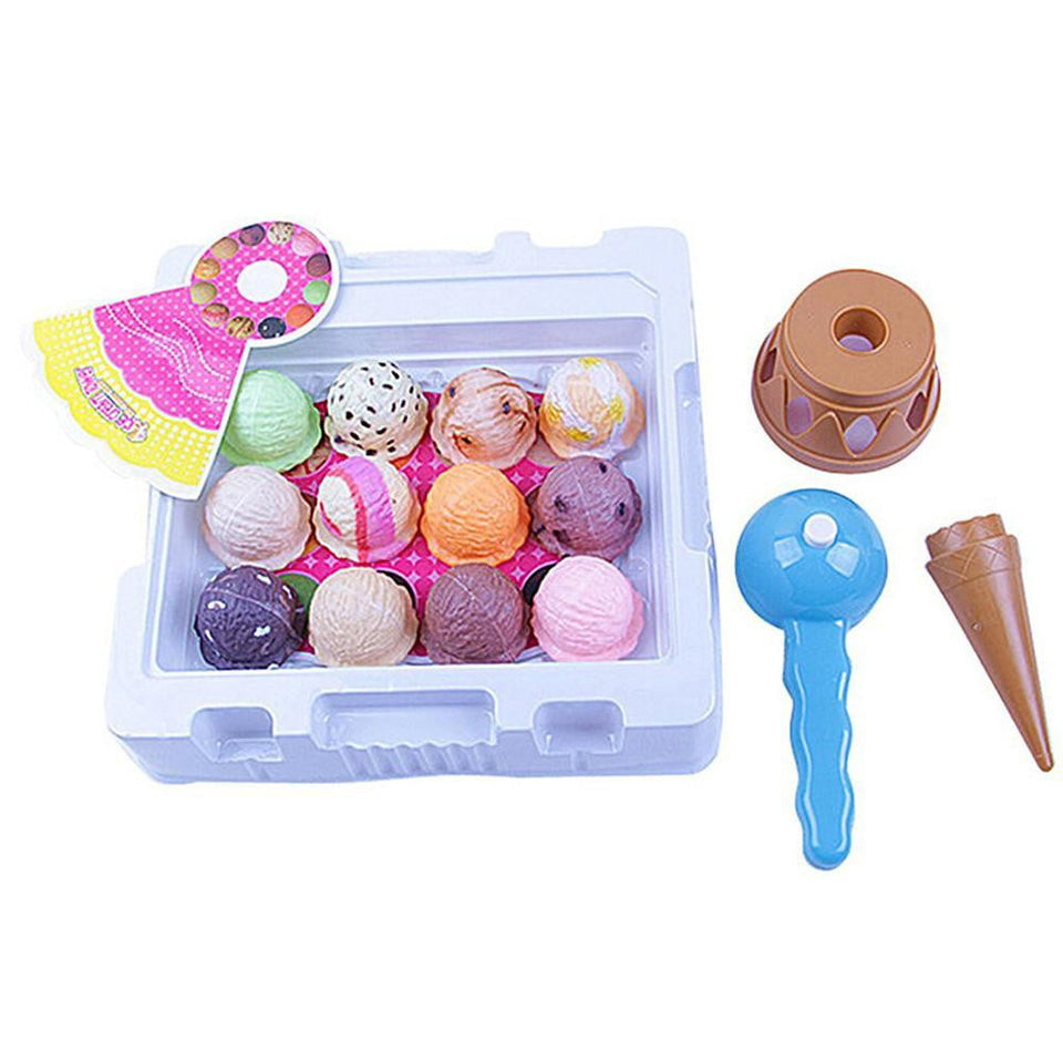 Ice Toy with Shovel Ice Cream Cake Chocolate Cone Shovel Children Playing Toy Set Gift - ourkids-shop