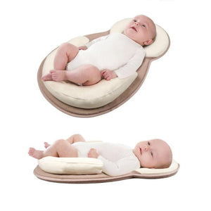 Multifunction Baby Crib Travel Sleep Pillow Newborn Anti-rollover Safety Cushion Baby Sleep Positioning Pad Portable Folding Bed - ourkids-shop