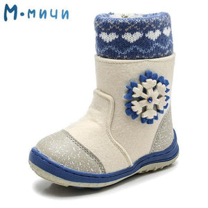 MMNUN Felt Boots baby Warm winter boots for girls Snow Boots Children Shoes kids shoes for girls Mid-Calf zip Size 23-36 ML9421 - OurKids.Shop