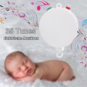 Baby Bedding Musical Mobile Plays/ Baby Crib Mobile Music Box 35 Tunes Without Arm (White) - OurKids.Shop
