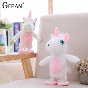 Funny Unicorn Walking & Talking Stuffed Animal Horse Toy Sound Record Plush Unicorn Creative Gift