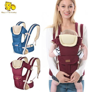Squirrelbaby 0-30 Months Breathable Front Facing Baby Carrier 4 in 1 Infant Comfortable Sling Backpack Pouch Wrap Baby - OurKids.Shop