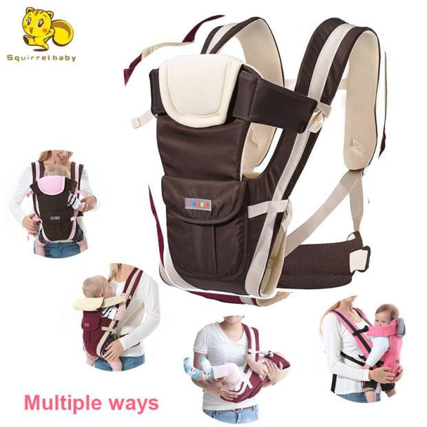 Baby Carrier 4 in 1 Infant Comfortable Sling Backpack Pouch Wrap Baby - ourkids-shop
