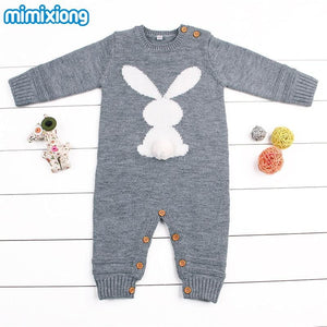 Baby Boys Rompers Winter 2018 Newborn Girls Christmas Jumpsuits Long Sleeves Infant Bebe Overalls Knitted Toddler One Piece Wear - OurKids.Shop