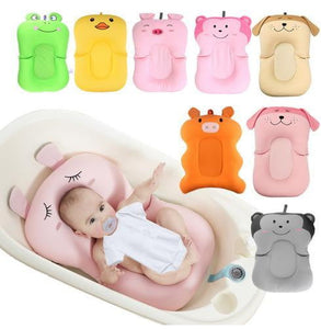 Baby Shower Portable Air Cushion Bed Babies Infant Baby Bath Pad Non-Slip Bathtub Mat NewBorn Safety Security Bath Seat - OurKids.Shop