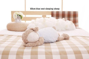 NICI Round Sheep Sleeping Sheep Plush Toy High Quality Pillow
